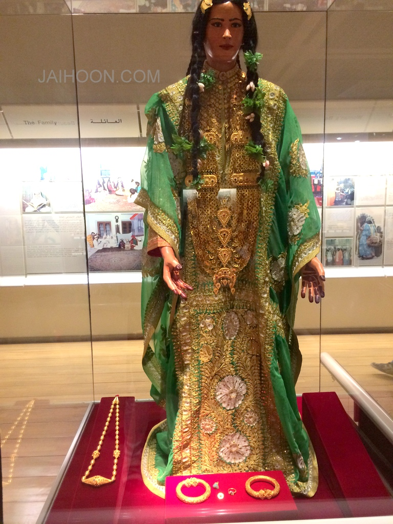 Traditional bride in Bahrain (Bahrain National museum)