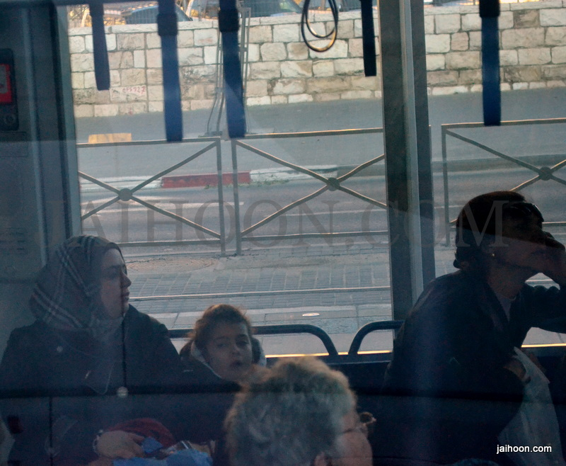 A Muslim lady in Jerusalem tram