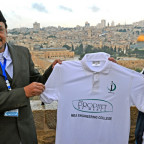 The Prophet of Mercy T-shirt launch on Mount of Olives, Jerusalem