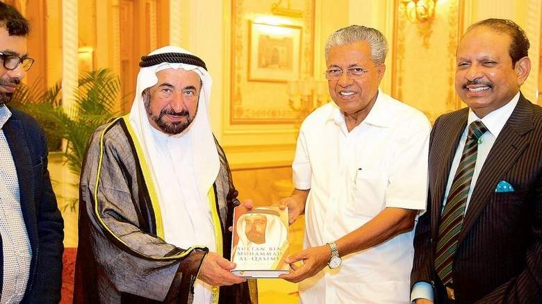 Sheikh Sultan hosts the Pinari Vijayan,, Kerala's Chief Minister