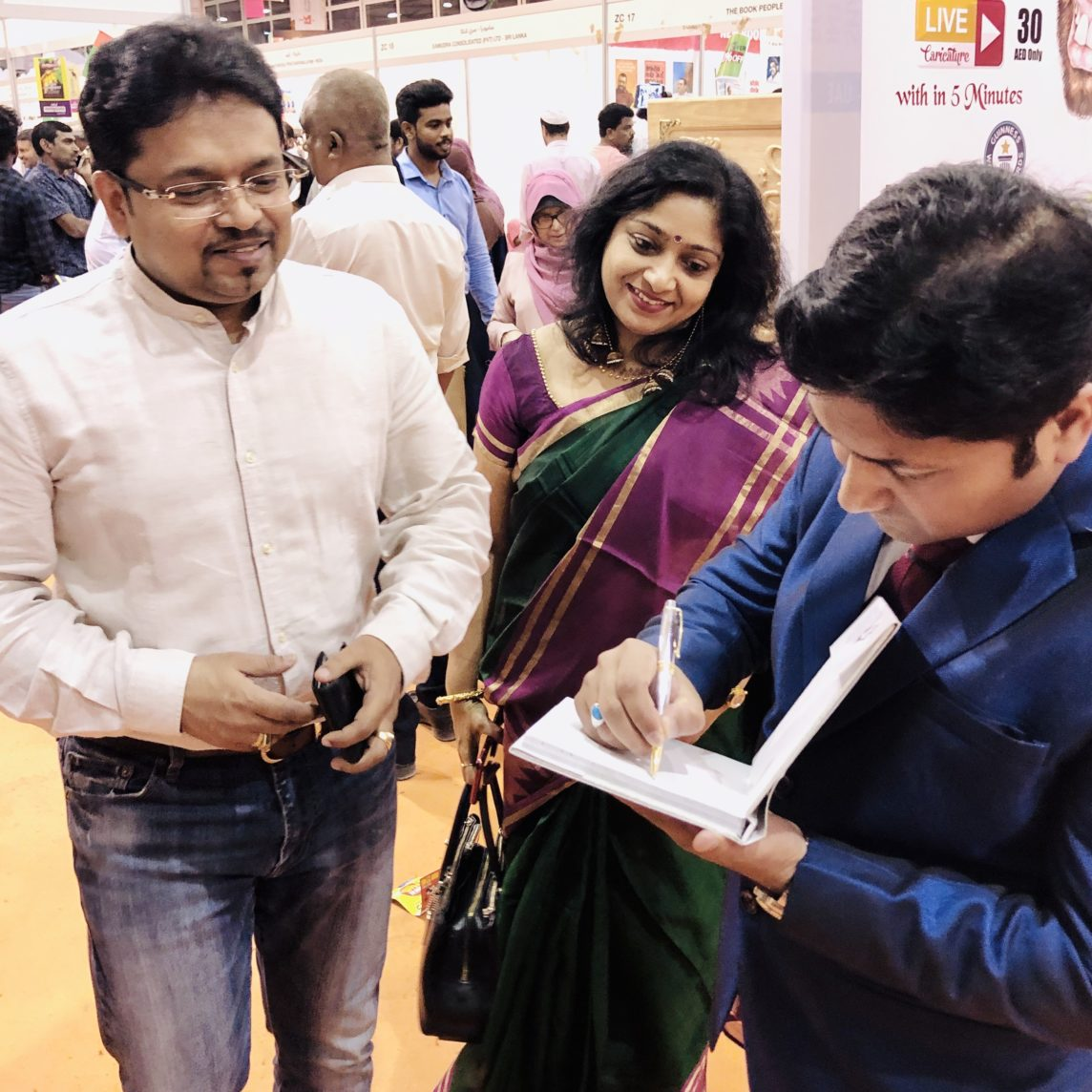 Book signing for Syam Panicker
