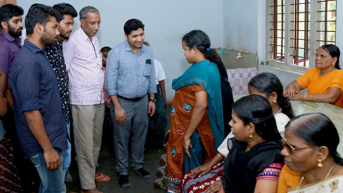 Visit to the Home for the Destitute Blind, in Kizhuparamba