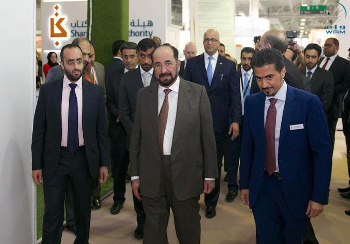 Sheikh Sultan Al Qassimi, ruler of Sharjah, at London Book Fair