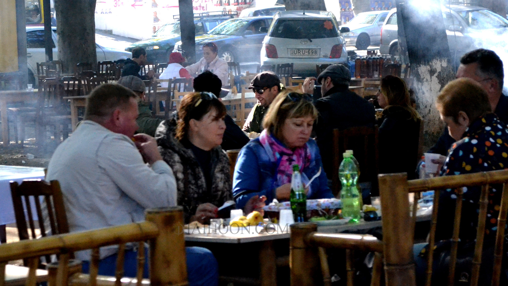 Residents eating out at Tbilisi