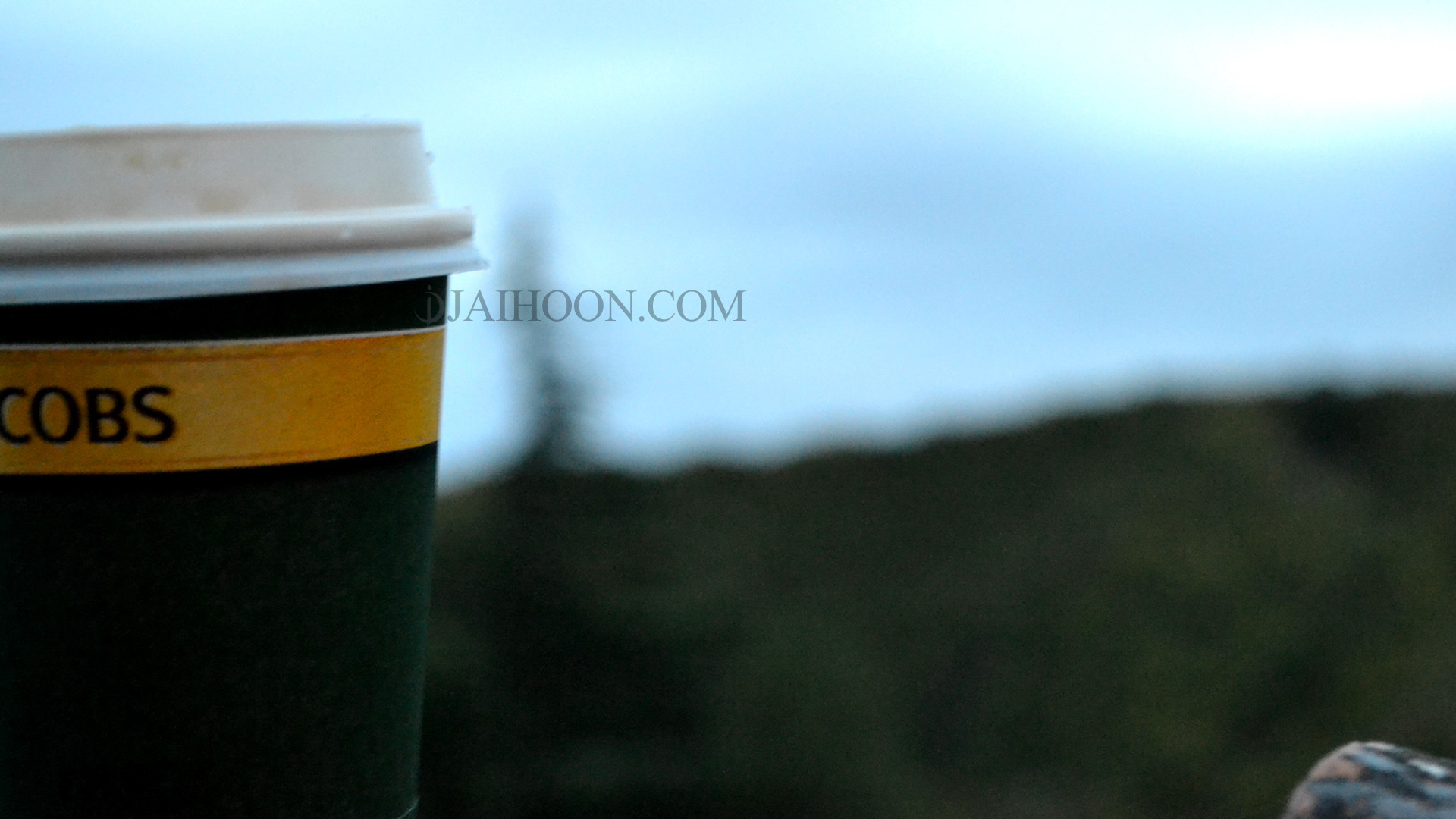 Coffee cup at Bodbe Monastery, burial place of Saint Nino