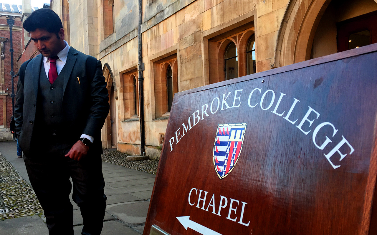 Jaihoon at University of Cambridge (Pembroke college)