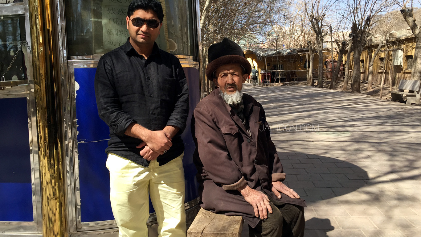 Jaihoon at Old city, Kashgar