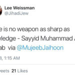 Jewish Interfaith Activist tweets from Slogans of the Sage