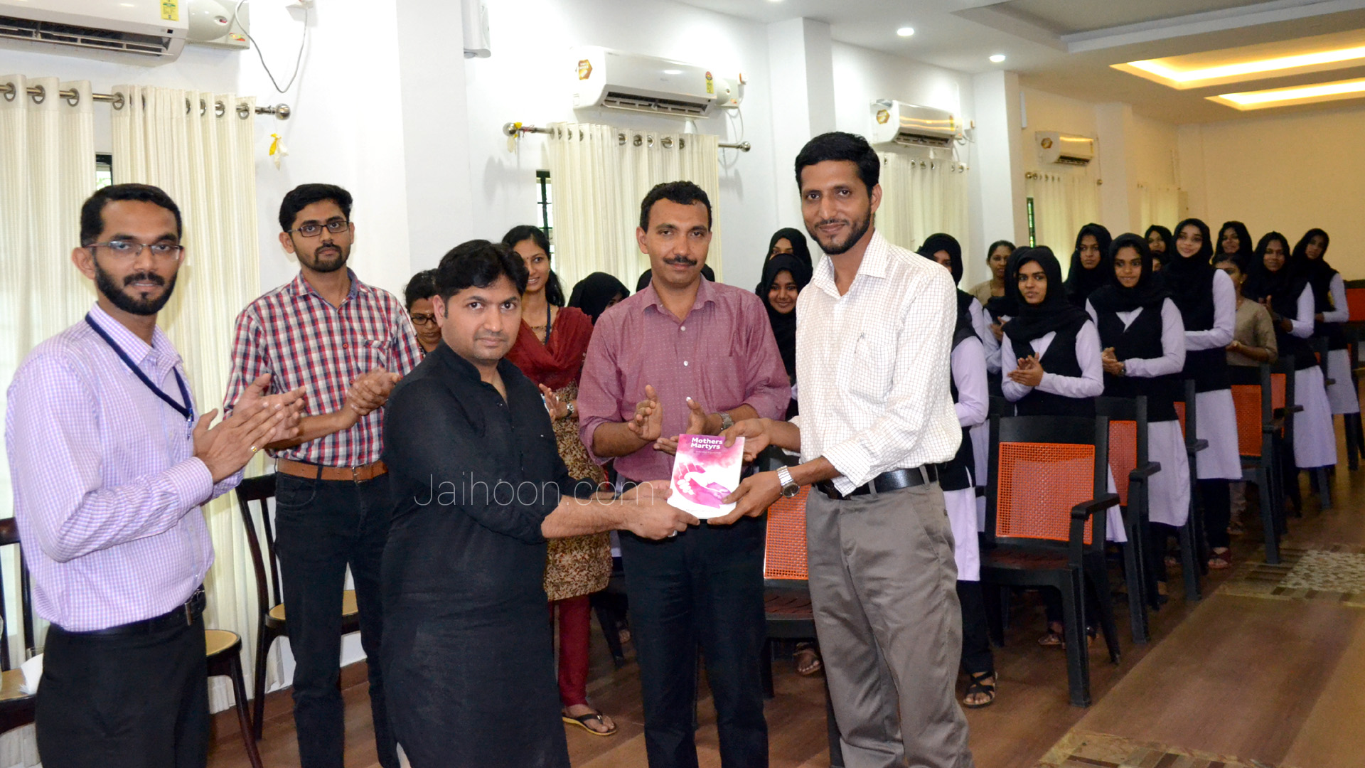 Presenting Mothers & Martyr's book to Ideal College, Kadakassery - Kerala. (Oct 2017)