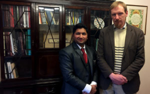 Jaihoon with Timothy Winters (Abdal Hakim Murad), at Cambridge Muslim College
