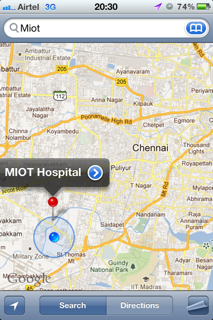 MIOT Hospital (Google map)