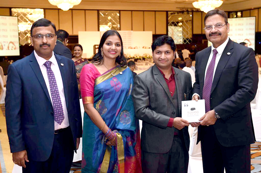 Slogans of the Sage presented to TN Manoharan, chairman of Canara Bank