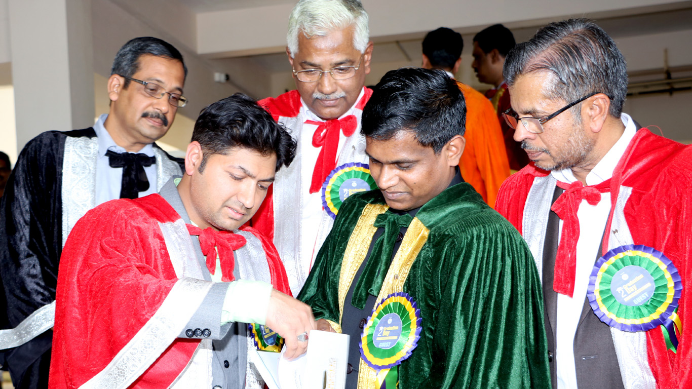 K. Inbasekar IAS, deputy collector of Trivandrum District, receives Slogans of the Sage