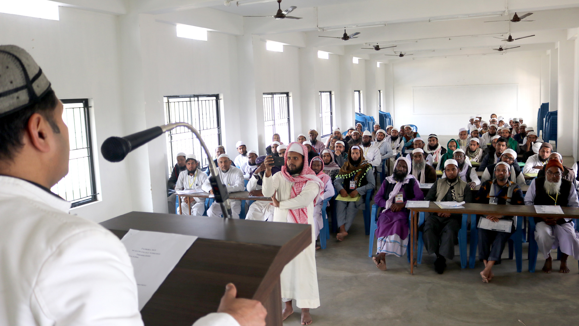 Mujeeb Jaihoon's concluding address at the Tajriba Training (One day Muallim Workshop), organized by the Hadia National Council, at the Darul Huda Assam Campus (Barpeta)