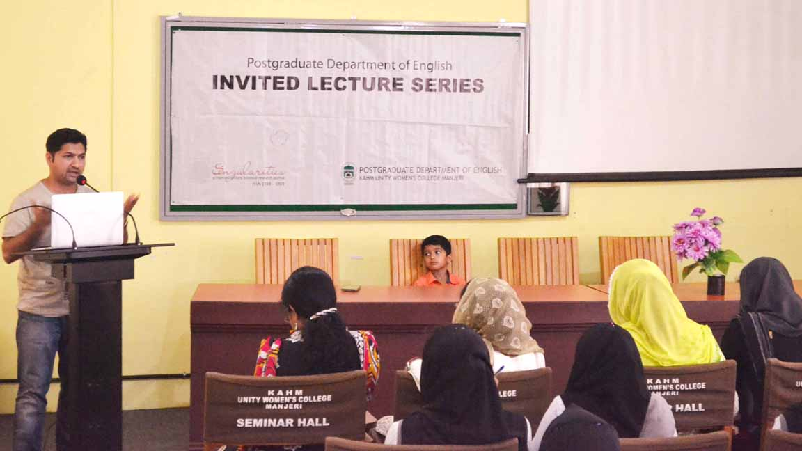 Jaihoon speech on travel writing at Unity Womens College