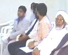 Habibullah Maulavi seated on the right and Jaihoon on extreme left